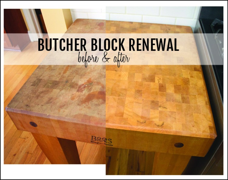 Refinishing Butcher Block Kitchen Table : How to refinish a butcher block
