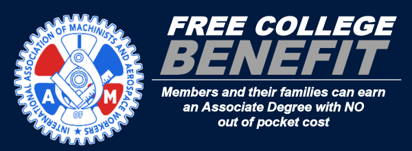 Free College Benifit for IAM memebers and family