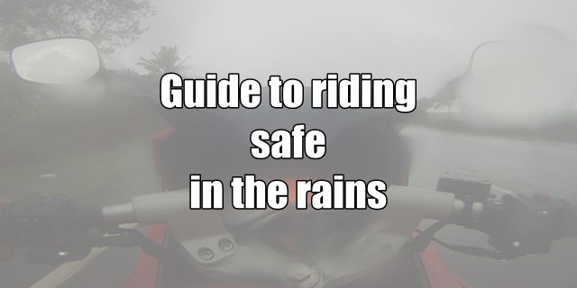 How to ride safe during rains