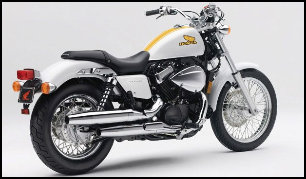 Honda Shadow VT750S special edition yellow