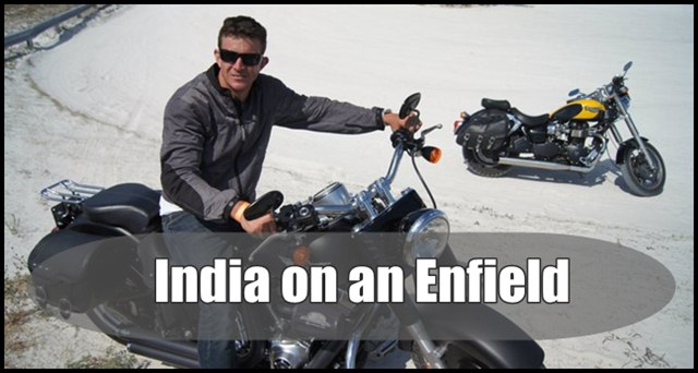 India on an enfield- Kenneth Maginnity
