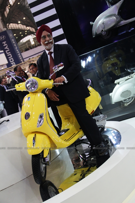 Vespa at Auto Expo 2012