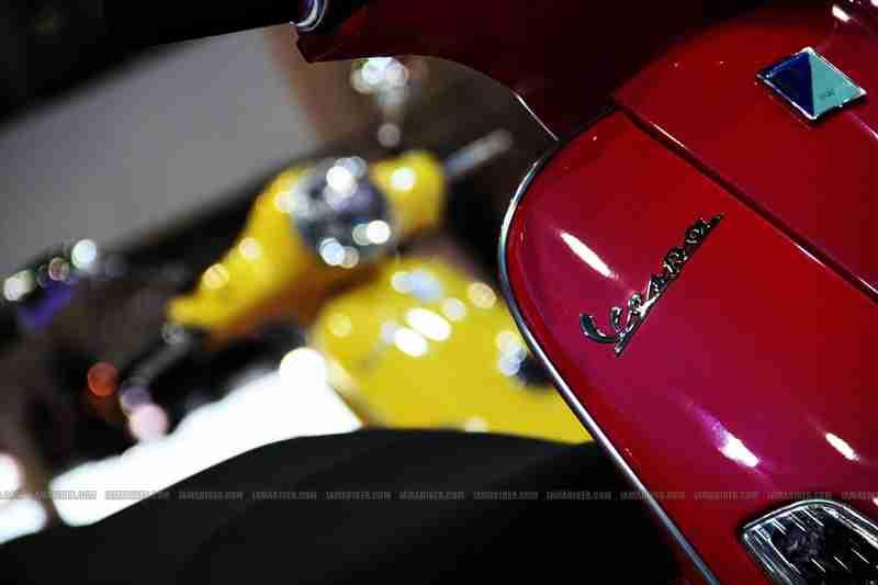 Vespa at Auto Expo 2012