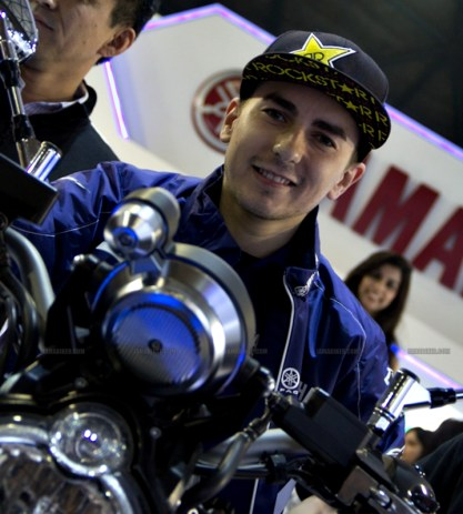 Jorge Lorenzo Auto Expo 2012 India 10