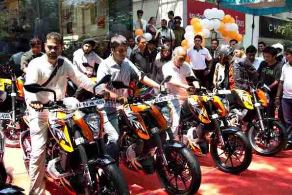 KTM Duke 200 Bangalore launch 34