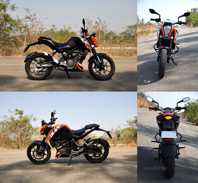 KTM Duke 200 review - profiles
