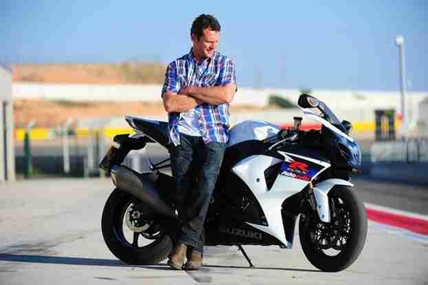 Simon Crafar and the GSX-R1000 electronics spoil the fun