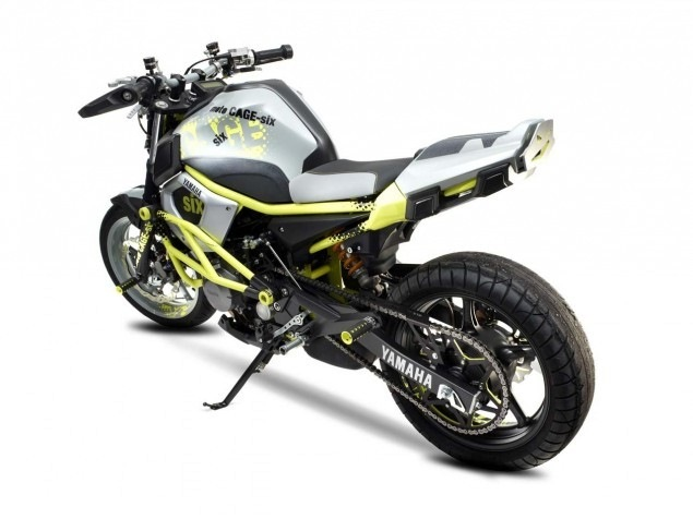 yamaha cage six stunt motorcycle xj6 - 01