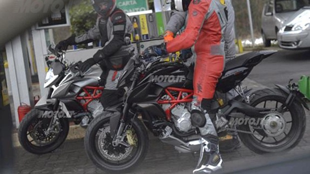MV Agusta Rivale spotted testing