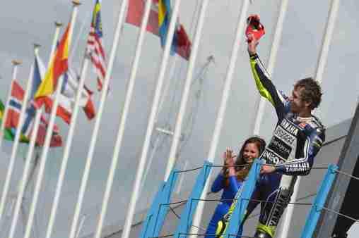 Valentino Rossi podium