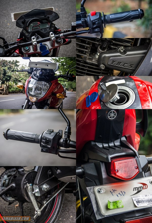 yamaha fz-s review Accessories and Key features