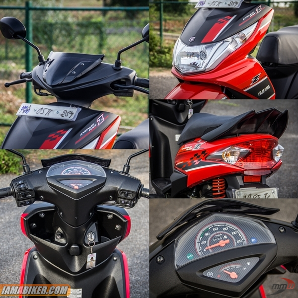 yamaha ray z review Accessories and Key features