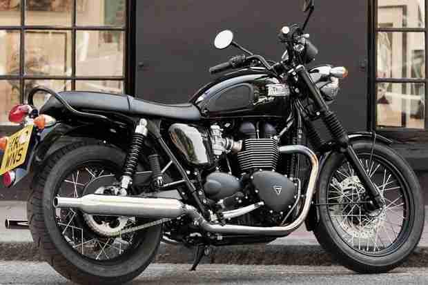 2014 Triumph Bonneville T100 Black   IAMABIKER