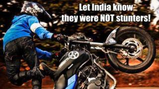 delhi biker shooting the biking world responds