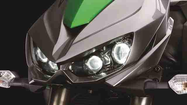 2014 Kawasaki Z1000 headlights