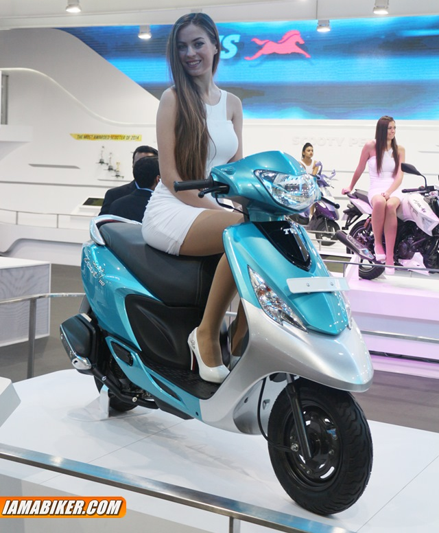 New TVS Scooty Zest unvieled at Auto Expo 2014