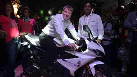 triumph daytona 675 india auto expo 2014