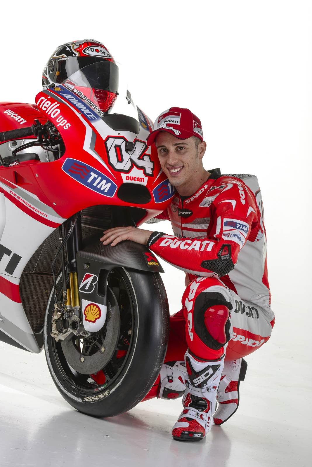 Andrea Dovizioso on his Ducati GP14