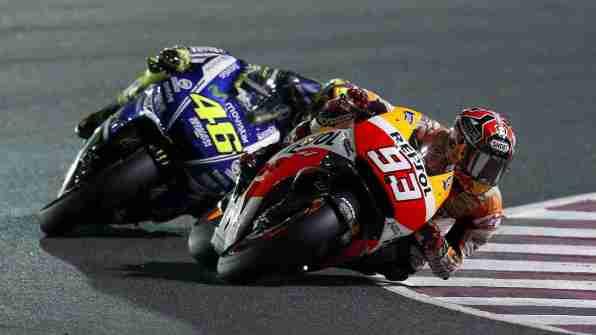 Valentino Rossi Marc Marquez Qatar