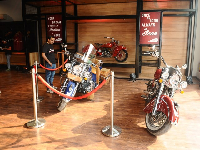 Indian Motorcycle Dealership India showroom interior 1
