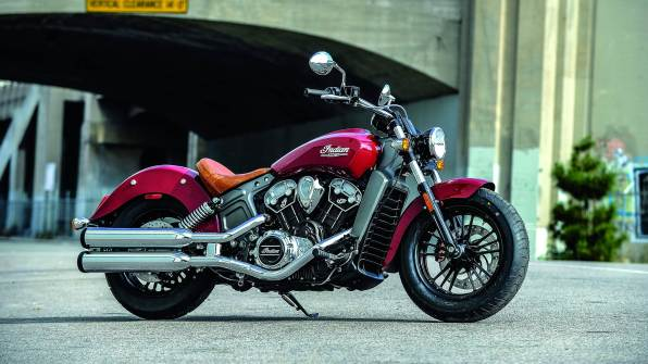 2015 Indian Scout launched - red