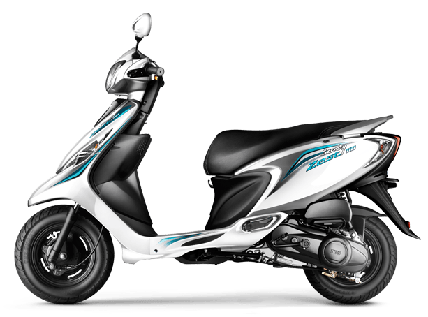 tvs scooty zest colour - white