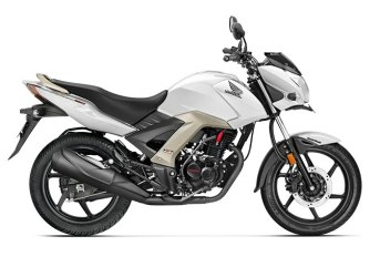 honda cb unicorn 160 colour - pearl amazing white