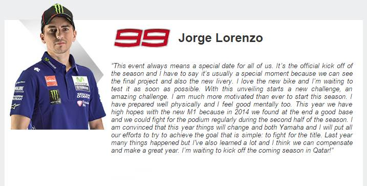 jorge lorenzo on motogp 2015 season