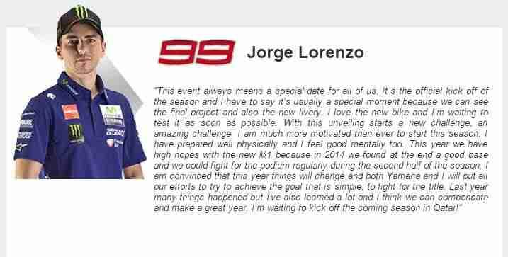 jorge lorenzo on motogp 2015 season
