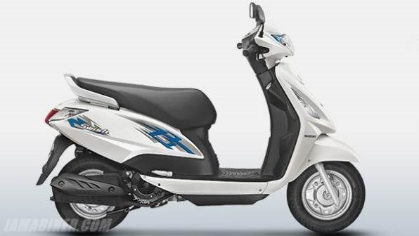 new suzuki swish 125 colour - Pearl Mirage White