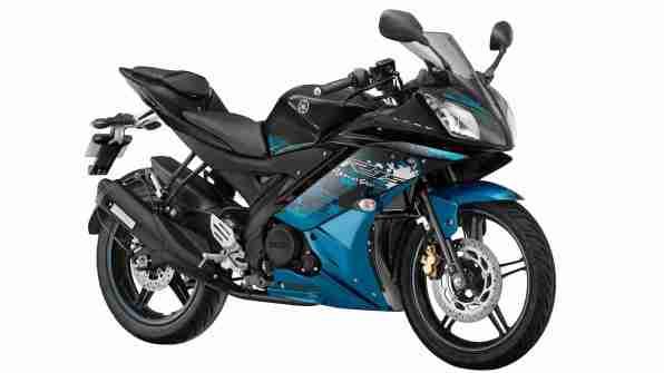 Yamaha R15 v2.0 Streaking Cyan colour option