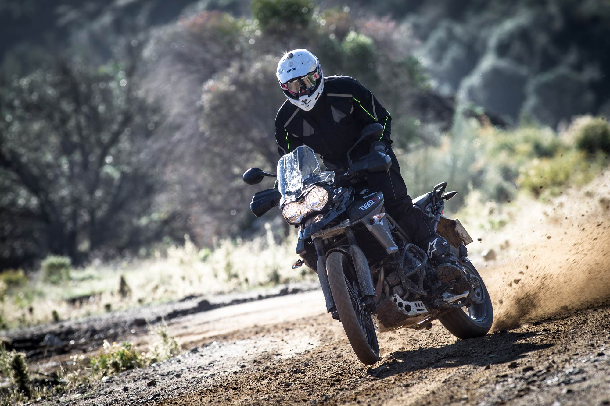 2015 Triumph Tiger 800 XCx off roading