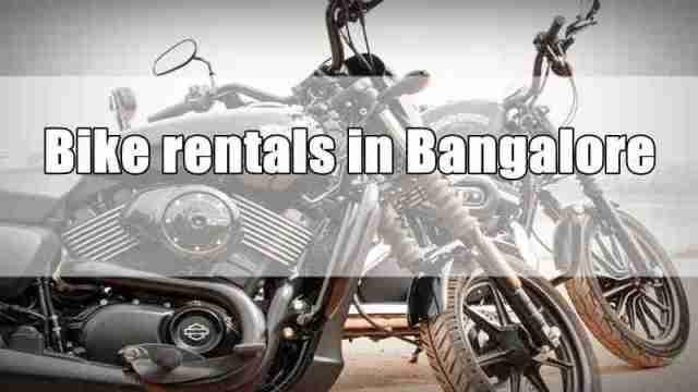 Bike rentals in Bangalore