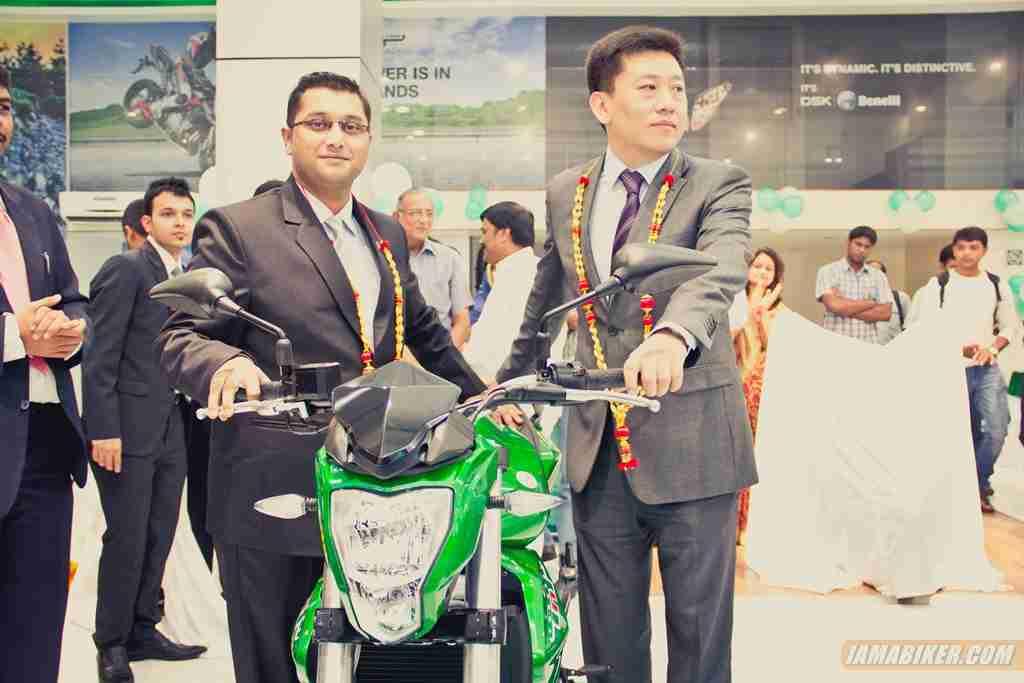 DSK Benelli Bangalore inauguration with Mr. Shirish Kulkarni & Mr. George Wang at Vinayak Cars and Bikes