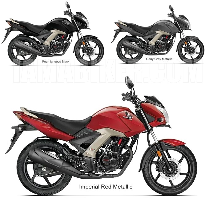 Honda CB Unicorn 160 CBS all colour options