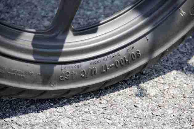 Honda CB Unicorn 160 CBS front tyre size
