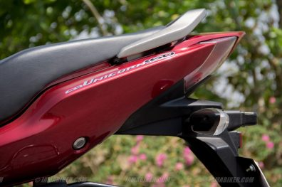 Honda CB Unicorn 160 CBS tail section