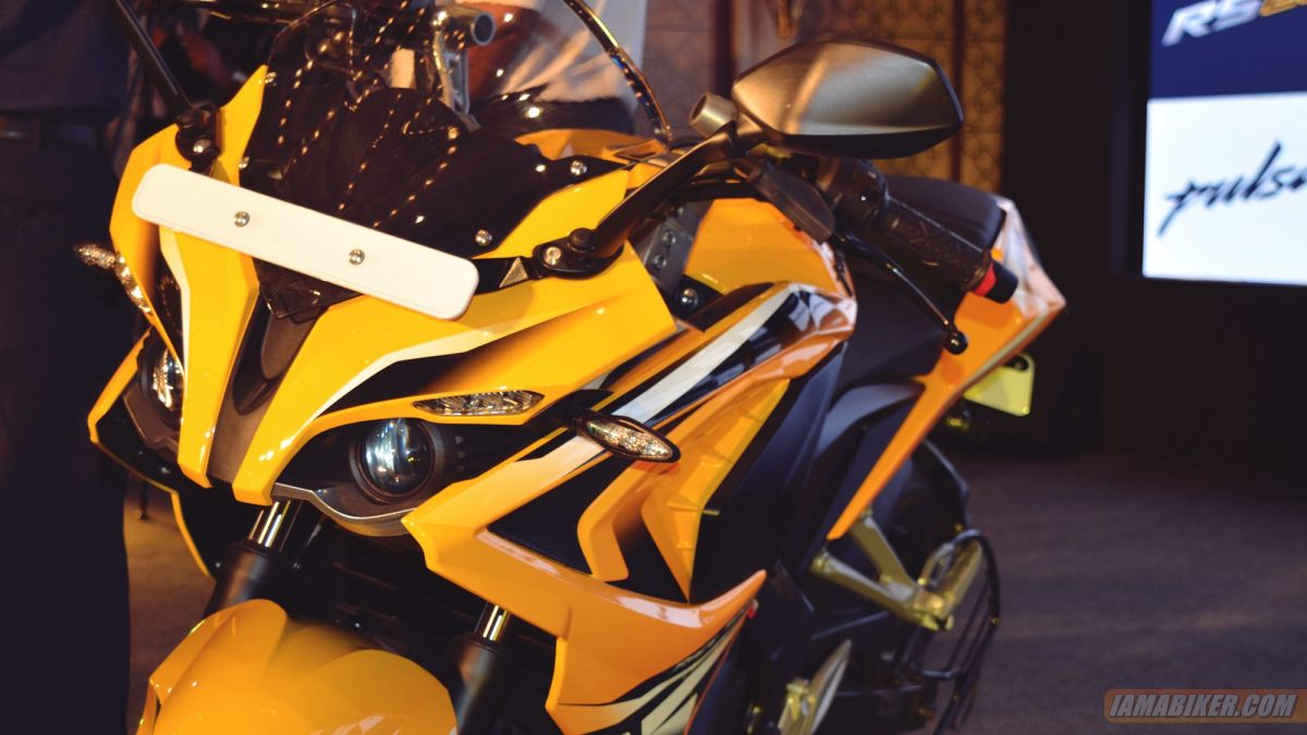 Pulsar RS 200 yellow colour option