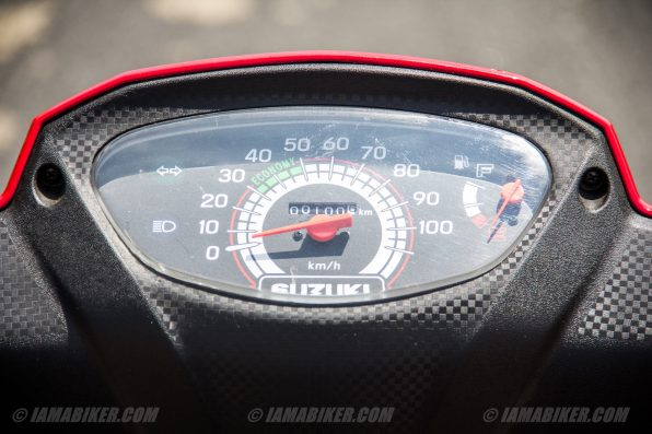 Suzuki Lets scooter speedometer