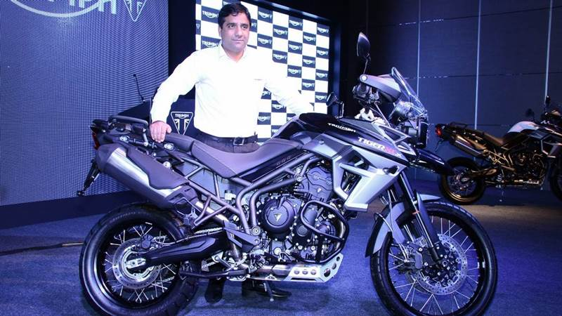 Vimal Sumbly 2015 Triumph Tiger 800 XCx India