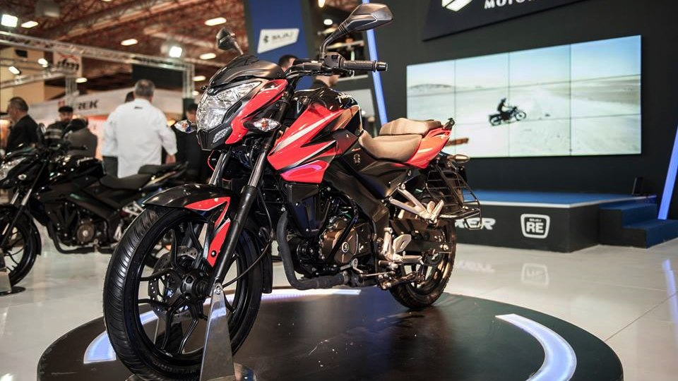 new bajaj pulsar 150ns red colour