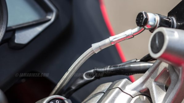 Pulsar RS 200 steel braided brake line