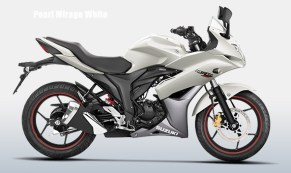 Suzuki Gixxer SF colour option pearl mirage white