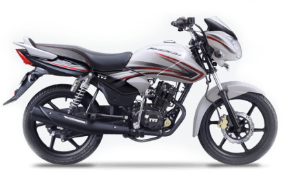 New 2015 TVS Phoenix 125 colour option white night