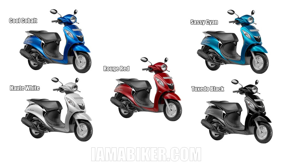 Yamaha Fascino all colour options