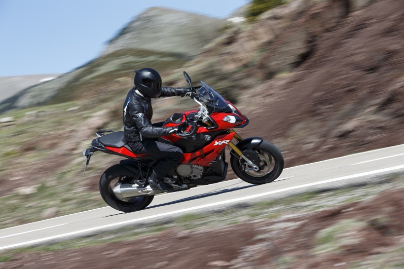 2015 BMW S1000XR on road