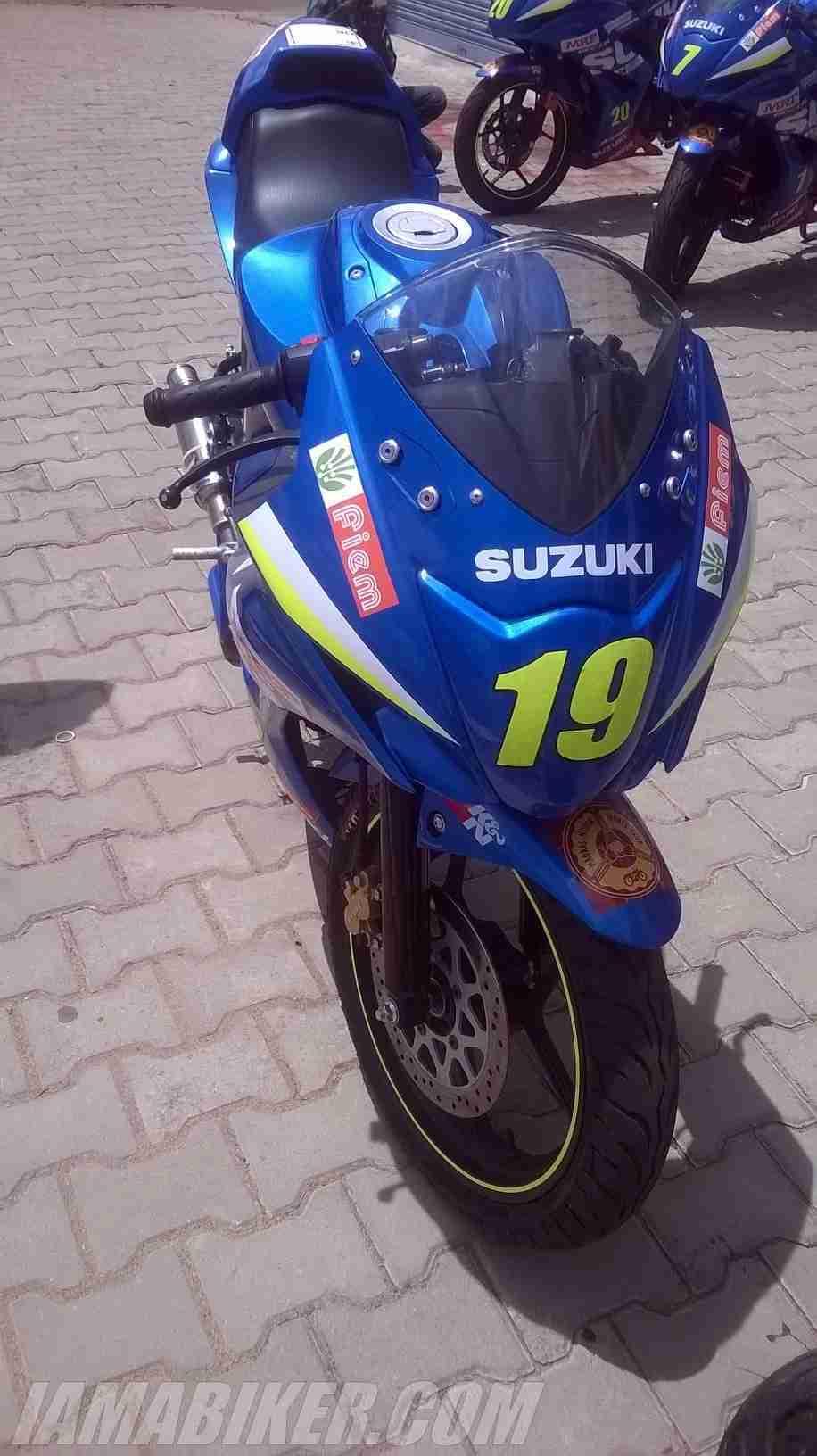 Suzuki Gixxer SF race spec Gixxer Cup bike
