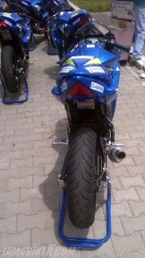 Suzuki Gixxer SF race spec Gixxer Cup back view