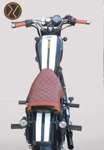 Custom Royal Enfield Cobra top view