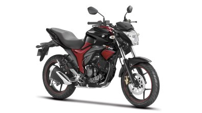 Suzuki Gixxer colour option Dual Tone Black and Red